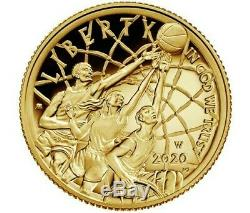 2020 W 1/4 oz Basketball Hall of Fame Gold (PROOF US MINT, WEST POINT) Coin