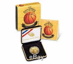 2020 W $5 Basketball Hall of Fame Gold Coin GEM BU OGP PRESALE