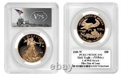 2020 World War II 75th Anniversary Gold Eagle PCGS PR70DCAM V75 Privy FDOI