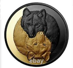2021, 1 oz. Silver Coin, Black and Gold, The Grey Wolf (PRE-SALE)
