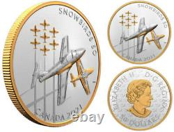 2021 5oz Silver Gold-Plated'The Snowbirds' Proof $50 Coin (RCM 200151) (20203)
