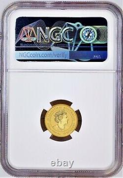 2021 P Australia Bullion GOLD $15 Lunar Year of the Ox NGC MS70 1/10 oz Coin FR