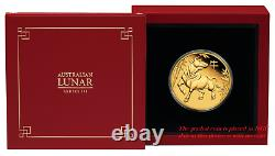2021 P Australia PROOF GOLD $100 Lunar Year of the OX NGC PF70 1 oz Coin FR