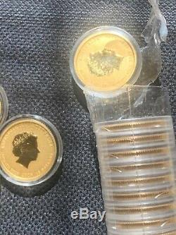 2x 2009 Australia Lunar Year of the Ox 1/10 oz. 9999 gold coins (colorized)