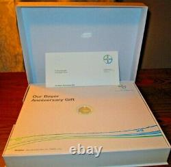 Bayer 150 Years Anniversary Commemorative 585 Gold 415 Silver 7.25g Coin withbook