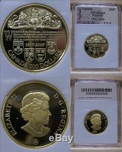 CANADA $100 GOLD COIN 14K 2007 140TH Dominion of Can
