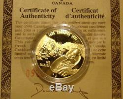 Canada $100 Gold Coin 14k 1996 Klondike Gold Rush