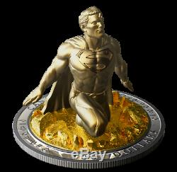 Canada 10 oz Gold Plated 3D Silver Coin Superman The Last Son of Krypton, 2018