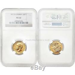 Canada 1911-C Sovereign Gold Coin NGC MS 64