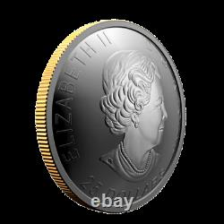 Canada 1 Oz Silver $25 Dollars Concave Coin, Klondike Gold Rush, 2021