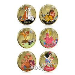 Disney Gifts Classics Collection Gold Traditions Coin / Medal Complete Pack