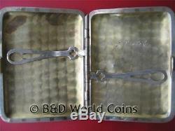 ELGIN CIGARETTE CASE (2.7oz 92gr) SILVER 14K ROSE GOLD ANTIQUE BOX COIN MONEY