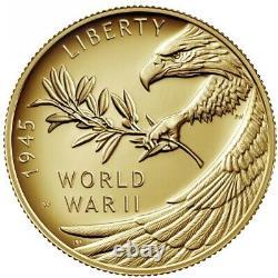 End of World War II 75th Anniversary 24-Karat Gold Coin 1/2oz. IN Hand