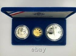 GOLD COIN United States Liberty Coins 1886 1986 3 Coin Proof Set with Case