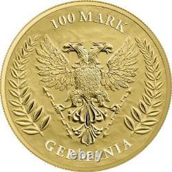 Germania 2020 Bu 5 Mark 1 Oz Pure Gold. 9999 Round Coin Box And Coa