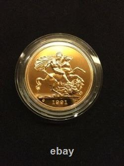 Great Britian 1991 5 Pound Brilliant Gold Coin Uncirculated