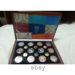 Greece, 2004 olympic, gold & silver proof coin set, 6 gold, 12 siver coin
