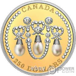 HER MAJESTY QUEEN ELIZABETH II LOVER KNOT TIARA Gold Coin 250$ Canada 2021