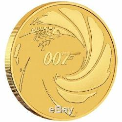 James Bond 007 $100. 1oz. 99.99% fine Gold ONLY 500 GOLD COINS IN CARD (RARE)