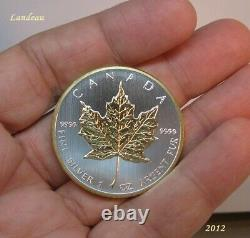 Maple Leaf Gilded Two Side 24k Gold Bullion Coin 2012