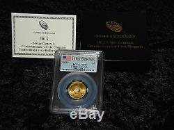 PCGS MS70 FIRST STRIKE 2013 Five Star Generals Uncirculated $5 gold coin (SG2)