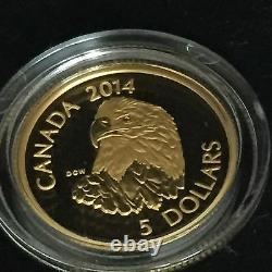 Pure Gold and Platinum Coins Bald Eagle Mintage 3,000 (2014)