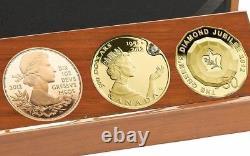 Queens Diamond Jubilee 3 Coin Gold Set