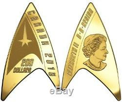 STAR TREK 2016 CANADA DELTA SHAPE 1/2 oz GOLD COIN