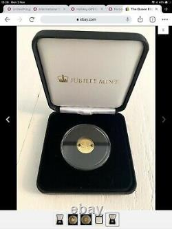 The Queen Elizabeth II Longest Reigning Monarch Solid Gold Coin 9ct