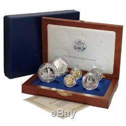 USA Statue of Liberty Commemorative Set Gold & Silver 1986 S, D, W 6 Coins Proof