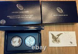 U. S. Constitution 1987-S Proof Set- 5 Dollar Gold And Silver Dollar Coins WithCoa